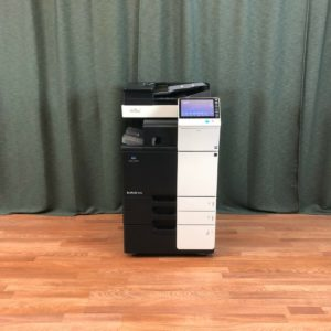 Demo Konica Minolta Bizhub 364e B/W Copier Printer Scanner Fax Finisher LOW 9k
