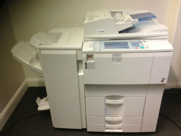 Gestetner Dsm755 with Booklet finisher Copy Print Scan FREE SHIPPING in USA !!