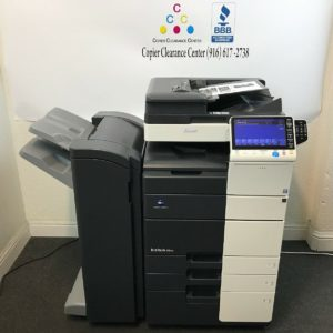 Konica Minolta Bizhub 454e Black & White Copier Printer Scanner Fax Finisher